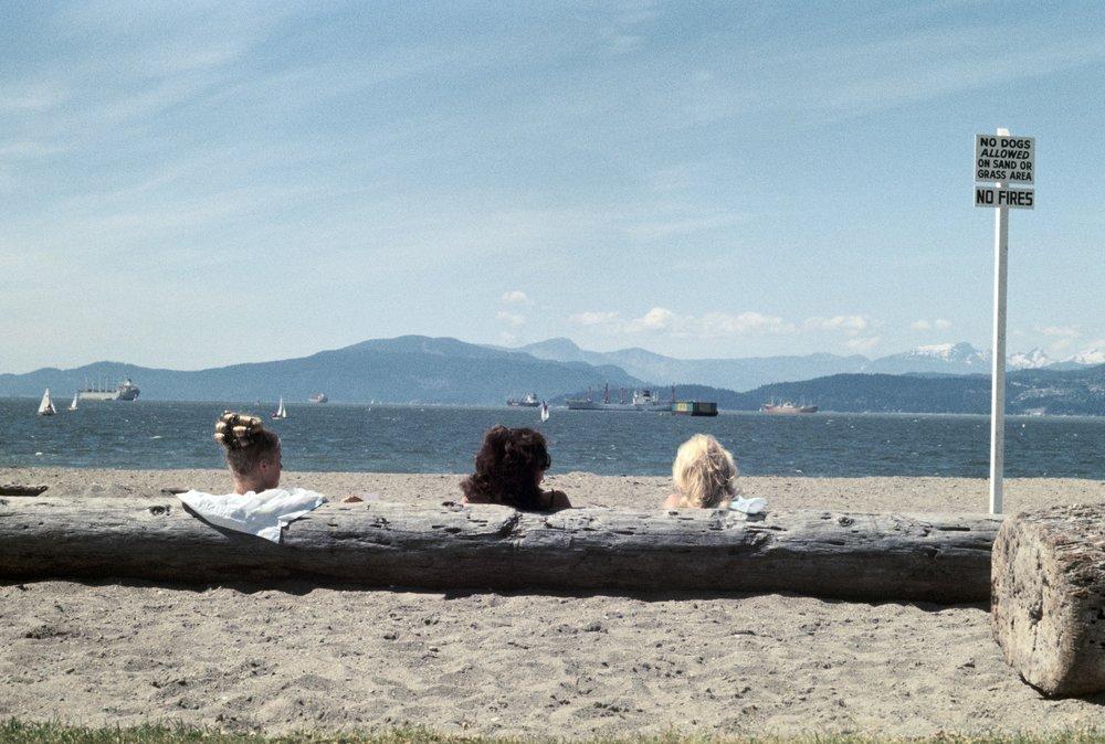 Three Girl Log – Kitsilano Beach