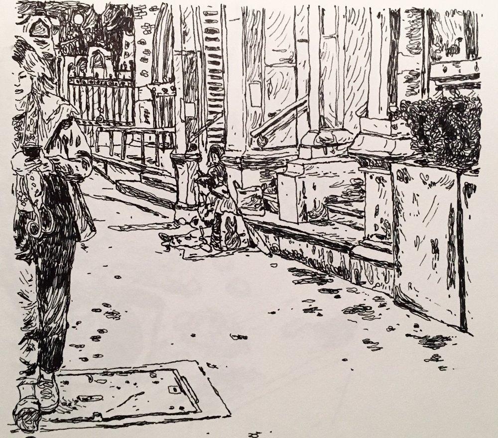 People Watching, Liverpool Street 2018