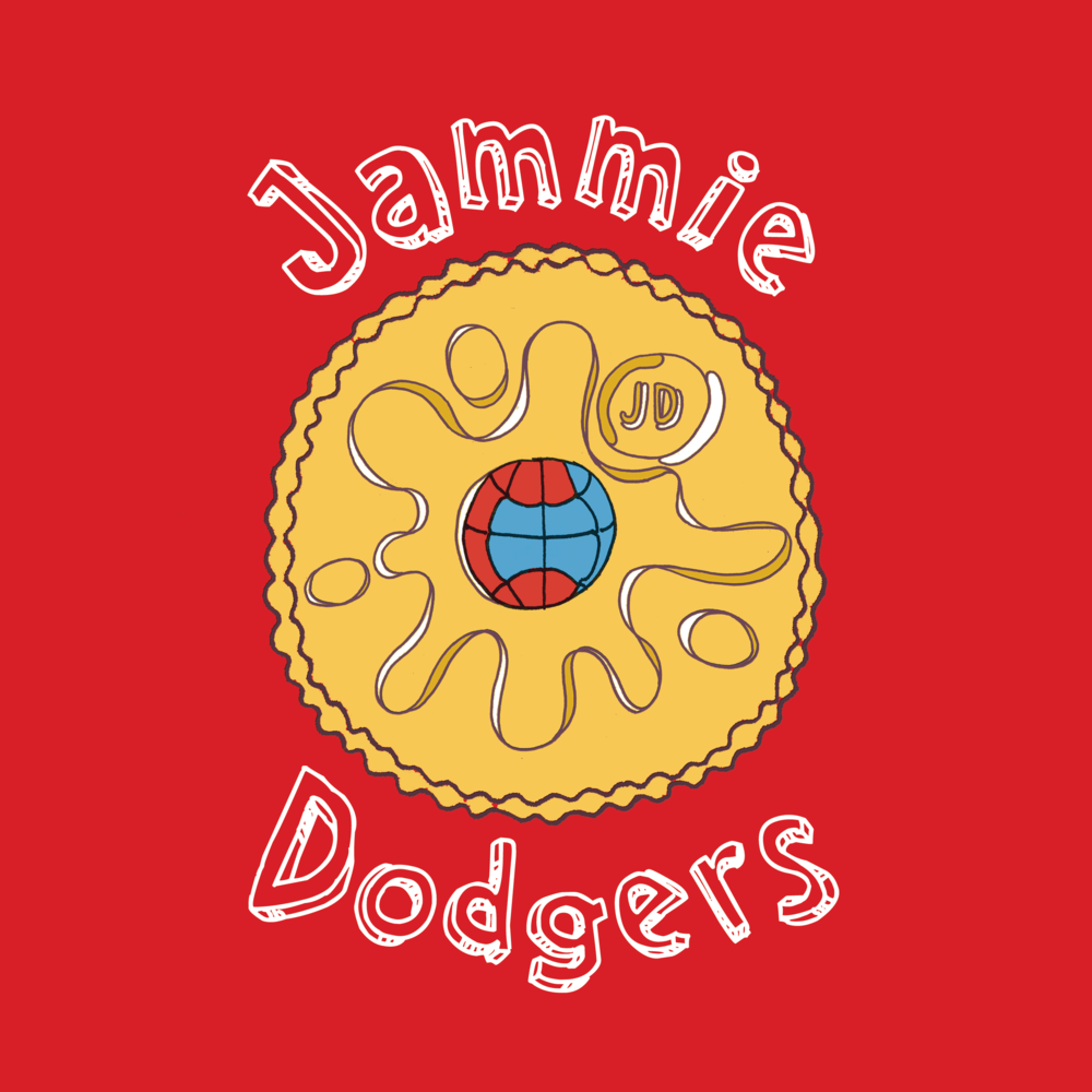 For the Jammy Dodgers dodgeball team...