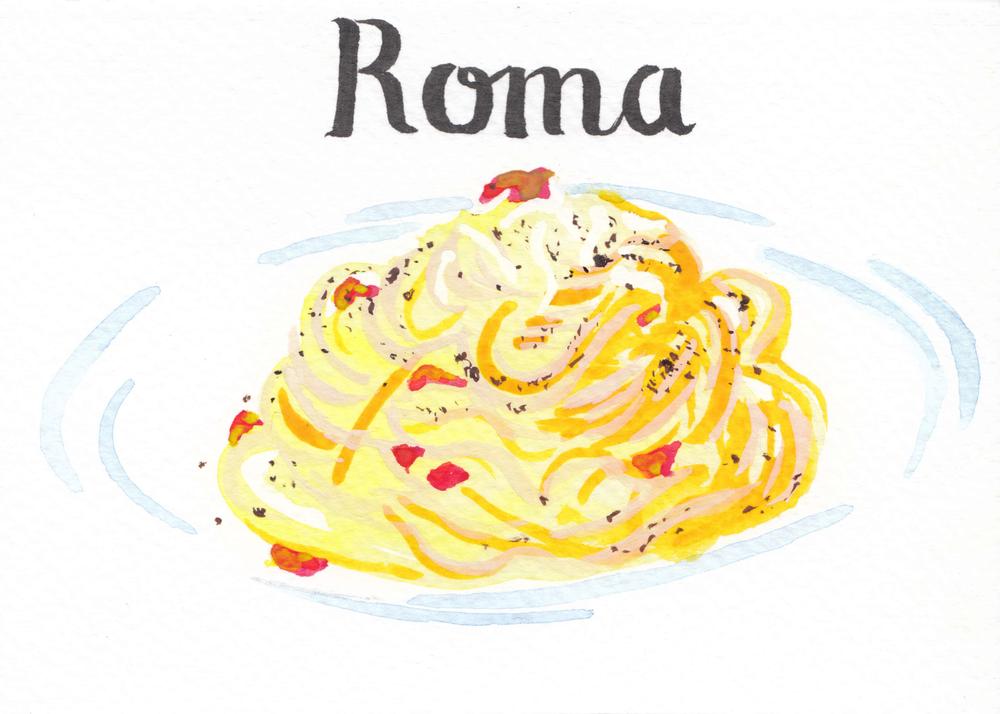Roma: Spaghetti alla Carbonara