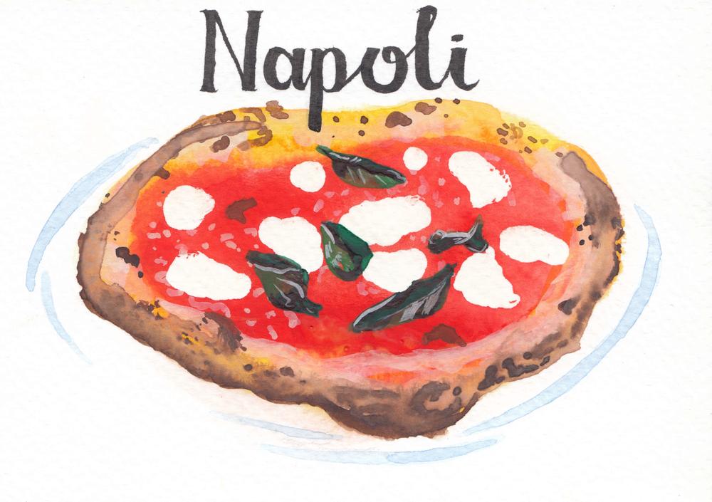 Italian regional specialties... Napoli: Margherita Pizza