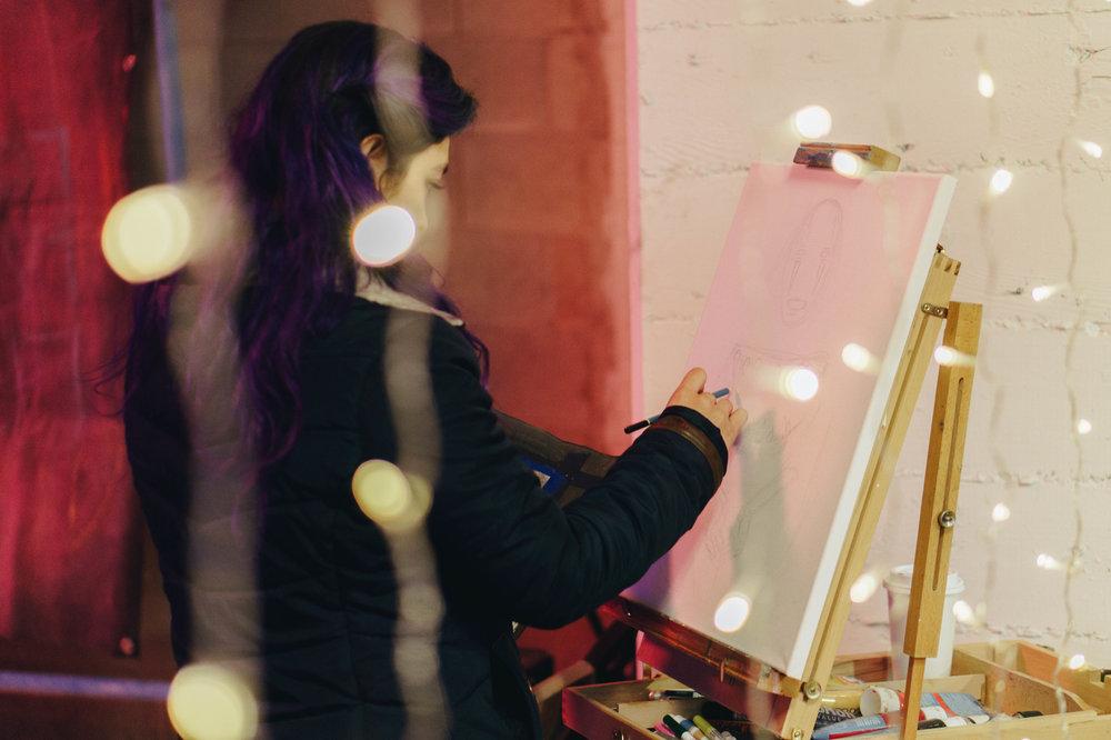 Featured Live Artist Natalia Virafuentes