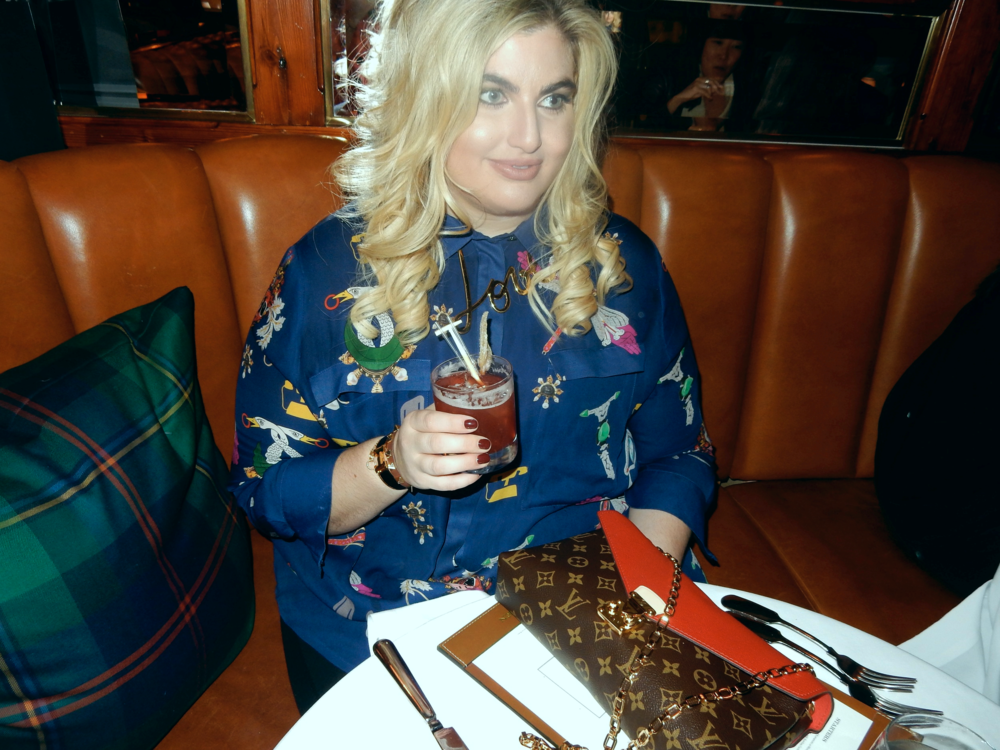 The silk shirtdress, coco curvy, coco limberakis, elizabeth limberakis, polo bar, nyc, curvy blogger, fatshion, mary katranzou, plus size shirtdress