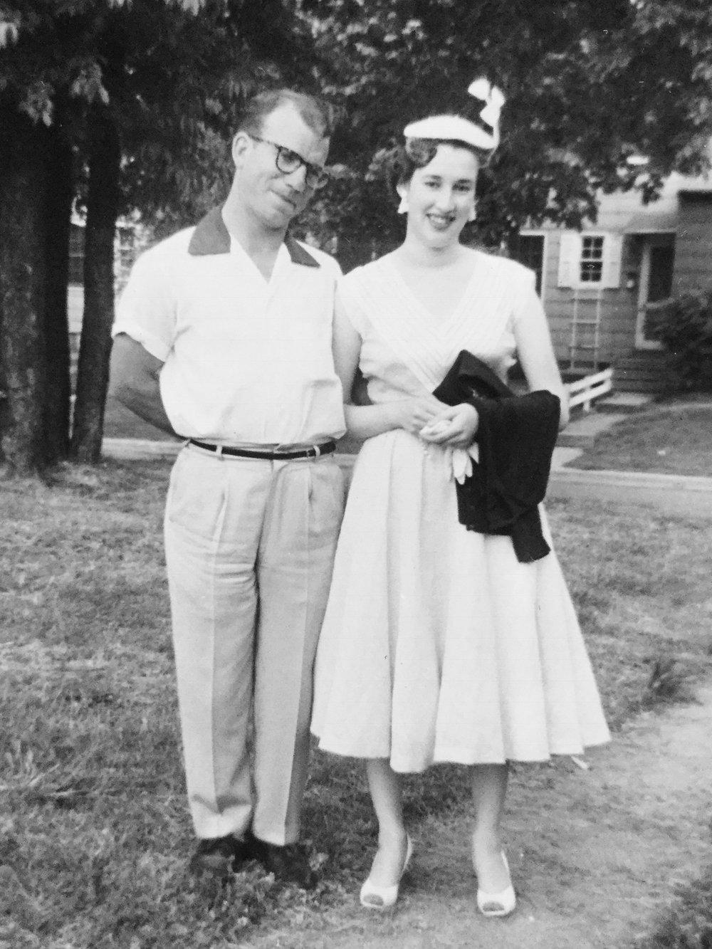 Mom and Dad, Circa 1954