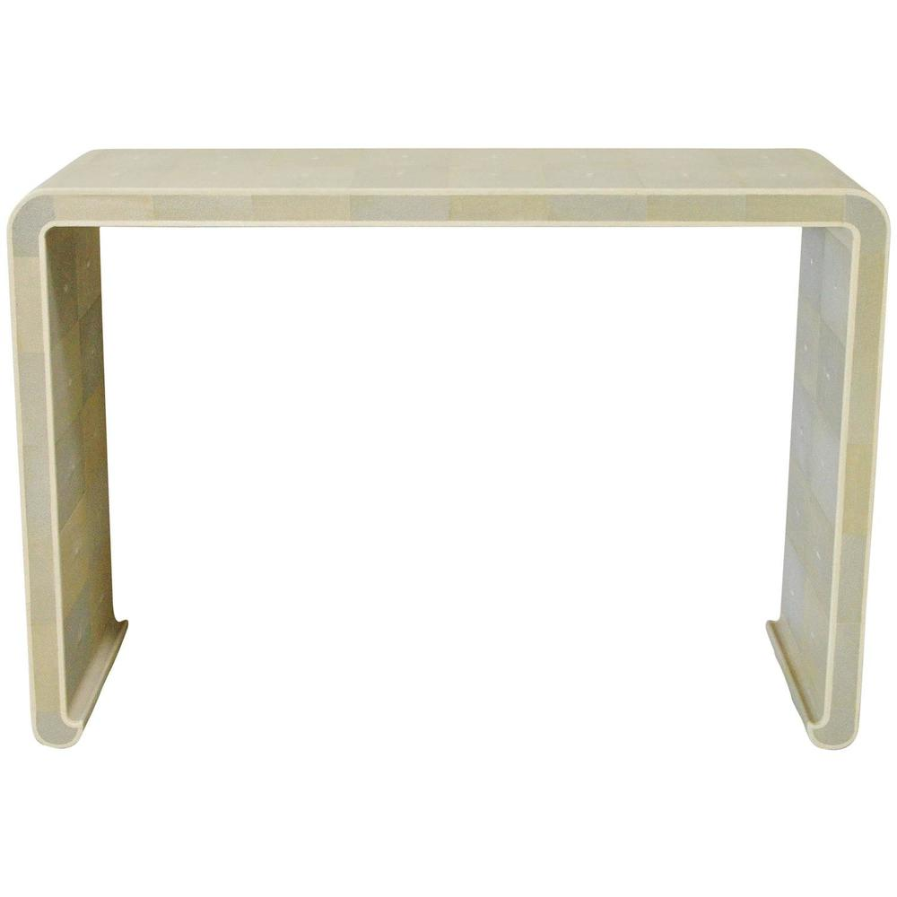 Shagreen Curved Console Table By Fabio Bergomi