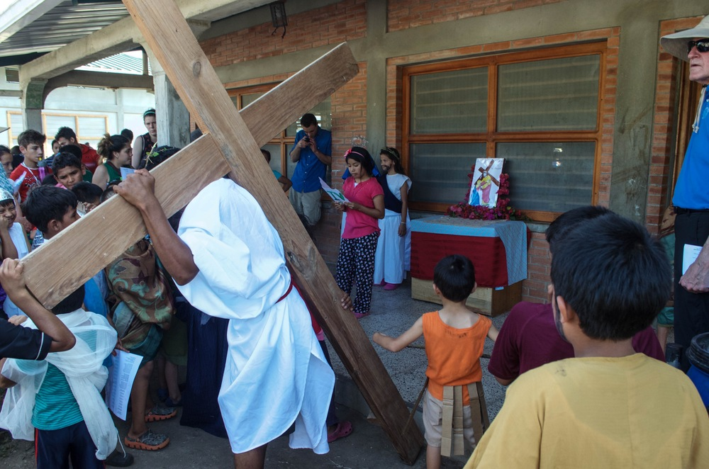Presenting at the Living Stations of the Cross on Good Friday 2016