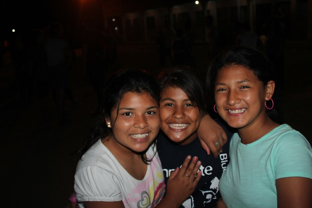Valeria (center) and friends