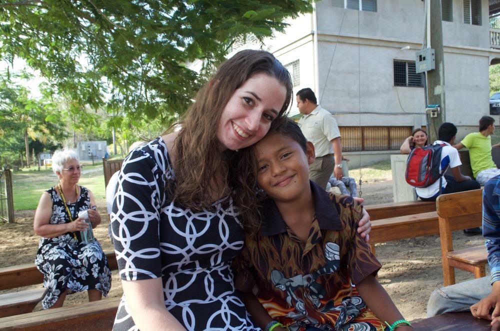 Miss Allison (2015-16 volunteer) and Diego