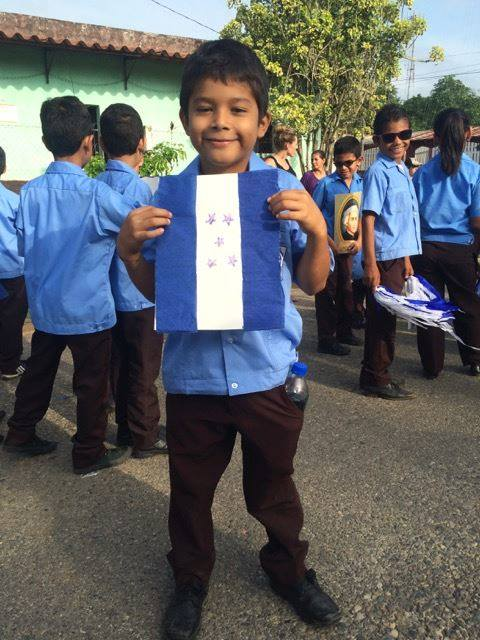 Jason* at the parade on Honduran Independence Day (September 15th)