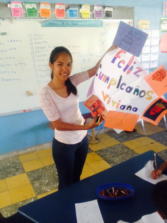 This year, Viviana received a special surprise from her students on her birthday.