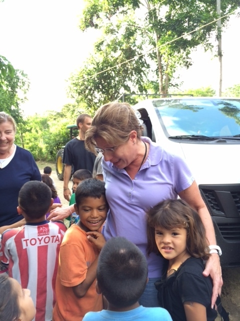 My favorite photo is of me on my first trip to Amigos de Jesús when I got out of the van. I was greeted by Elmer*, Rocio* and Wilbur* (all children Pat sponsors). I don't believe I was ready for the sincere, loving greetings I received from the children and staff.