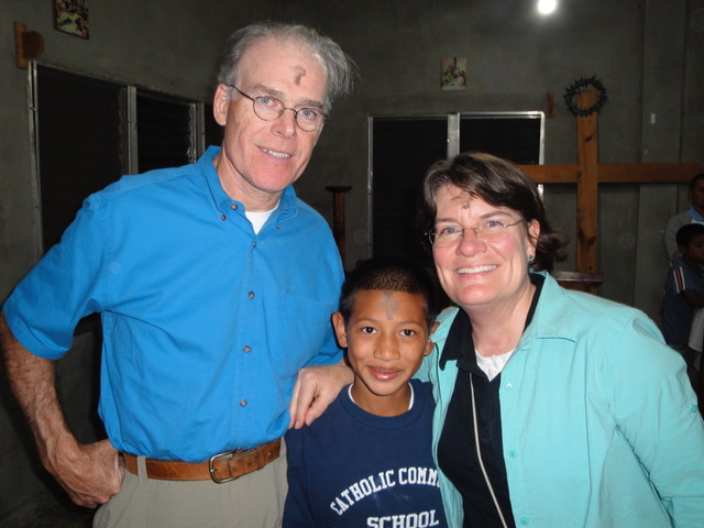 Ann, her husband and little Juan* during one of their first trips to the hogar.