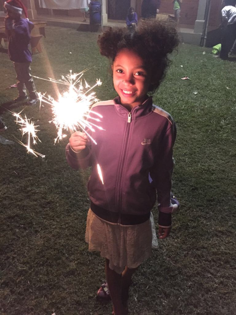 Soledad brining in 2018 by celebrating with sparklers!