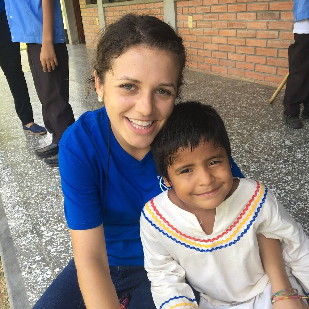 Miss Laura and one of her 1st grade students celebrating Día de la Identidad Nacional (National Identity Day) last June.