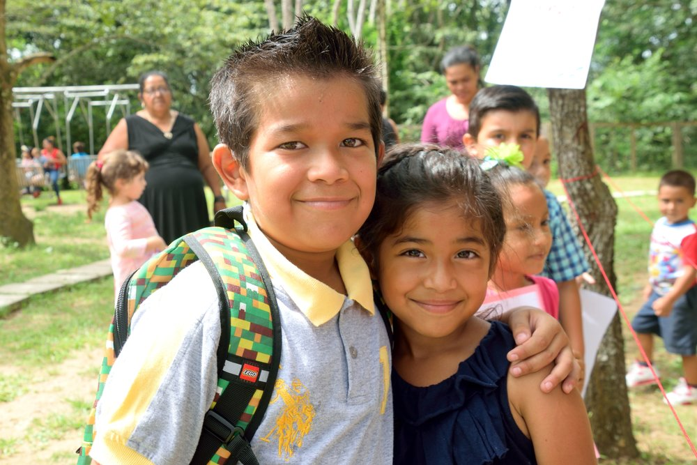 Alanzo and his younger sister during Día del Niño (Children's Day) in September of 2017.