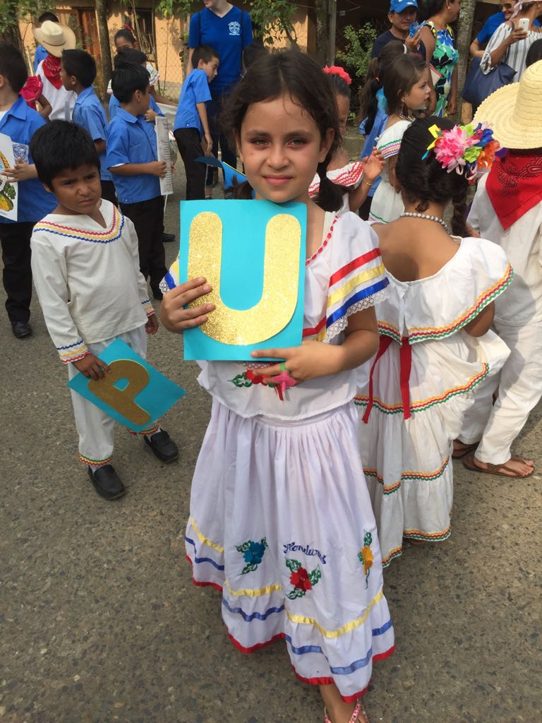Cinthia dressed up for the Independence Day Parade this past September.