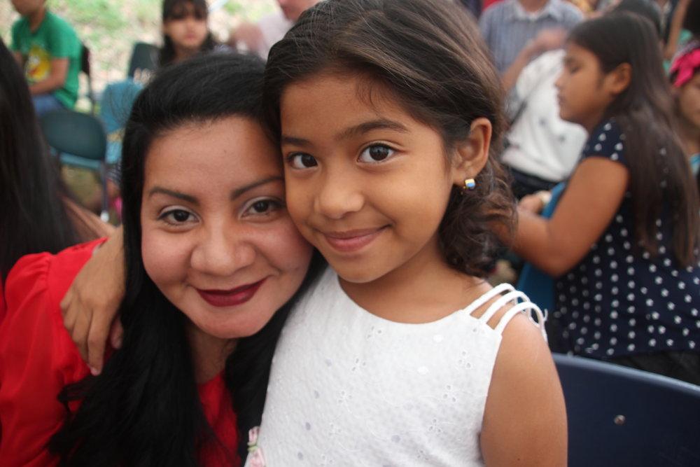 Luna at 6th Grade Graduation with her Madrina Mirtala, December 2017