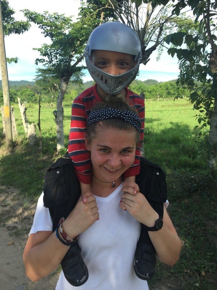Ms. Stephanie with a little knight in shining armor off to save the world!