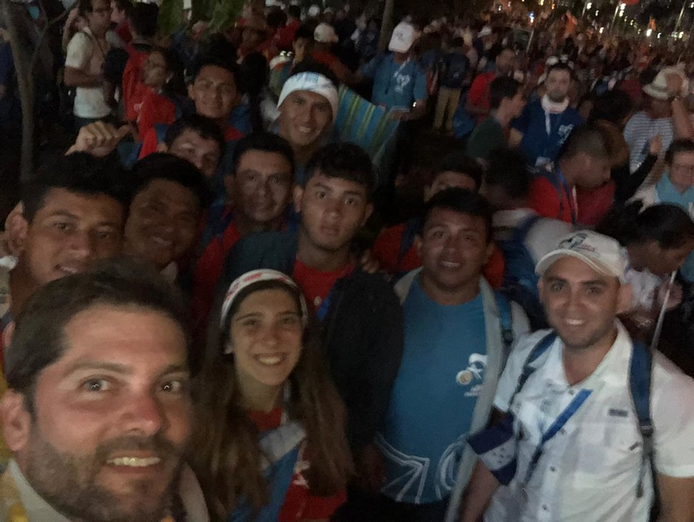 Hanging out with a few hundred thousand Catholic youth in Panama City!