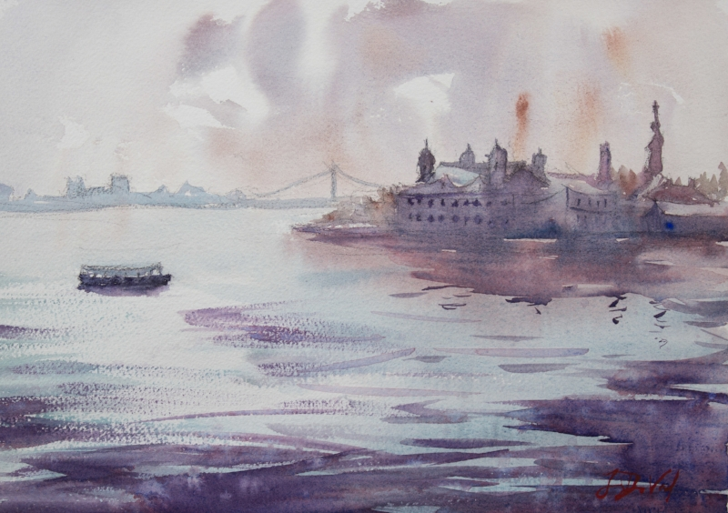 Ellis Island Winter Morning