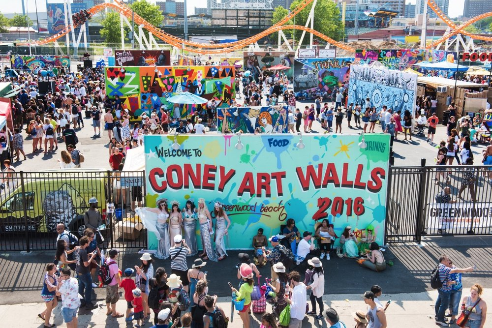 Coney Island Art Walls, 3050 Stillwell Ave, Brooklyn, NY 11224