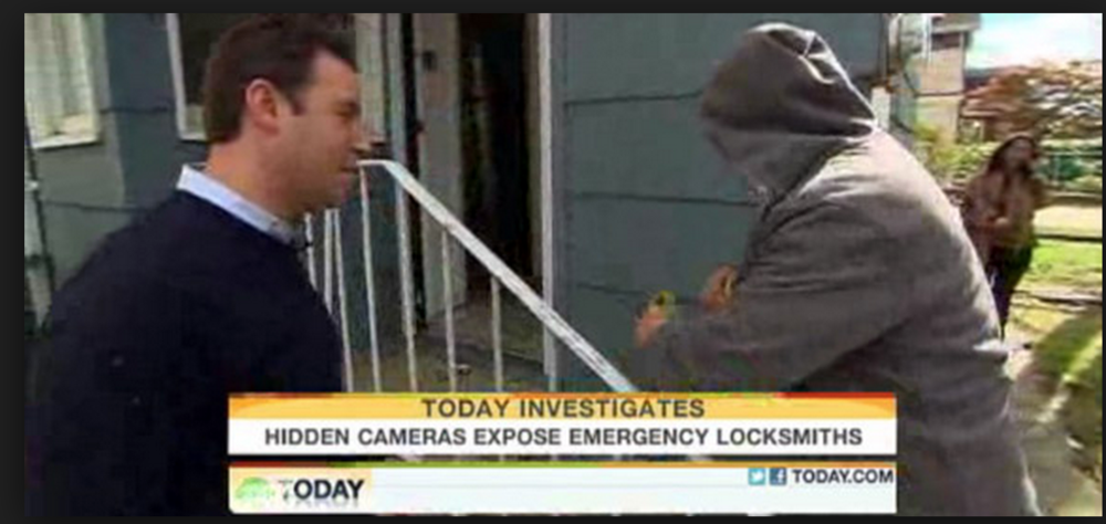 """NBC's Today Show has covered """"fake online locksmiths"""" twice."""