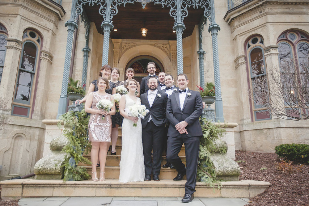 mansion hill wedding party