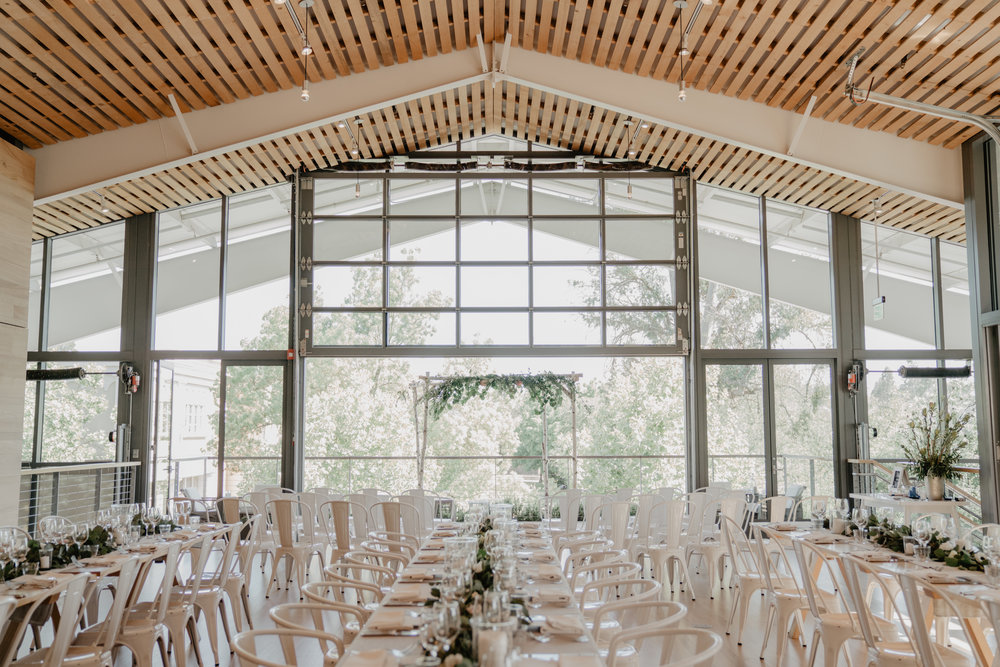 SHED white wedding clean modern bride