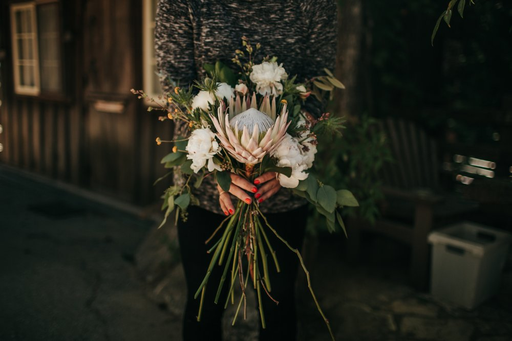 protea big sur elopement florist california
