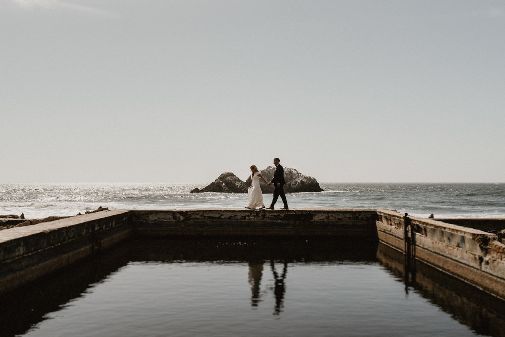 san francisco elopement sutro baths photographer planner intimate baker beach