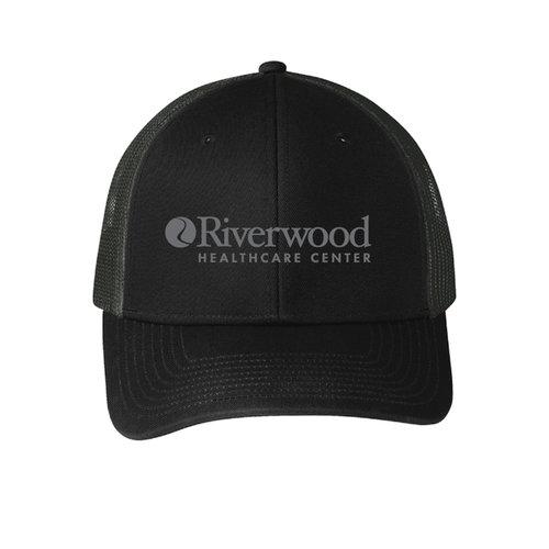 3301bb7c4 RW | Port Authority® Snapback Trucker Cap | Black & Charcoal