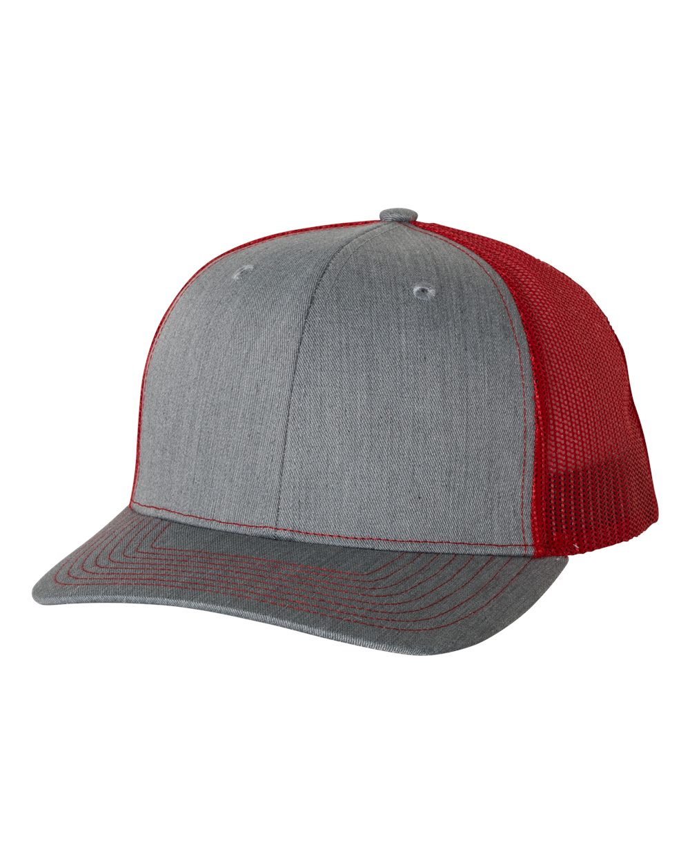 Heather Grey / Red