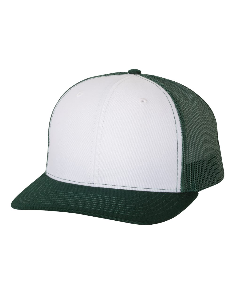 White / Dark Green