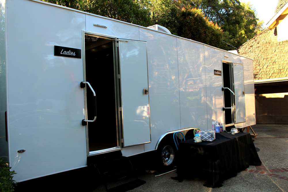 Luxury Portable Restroom Trailer Special Events, Meetings & Weddings
