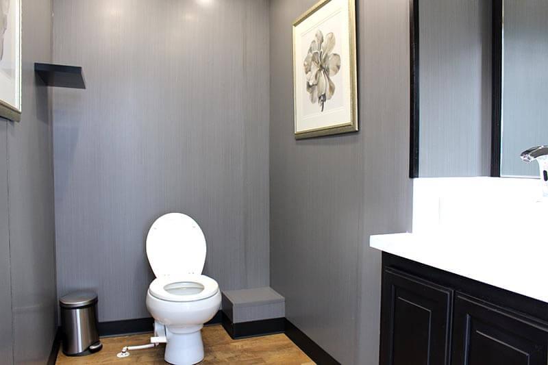 Two Station Luxury Portable RestroomTrailer -