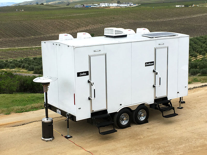 Five Station Luxury Portable Restroom Trailer  -
