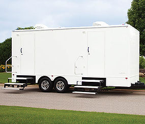 Six Station Luxury Portable Restroom Trailer  -