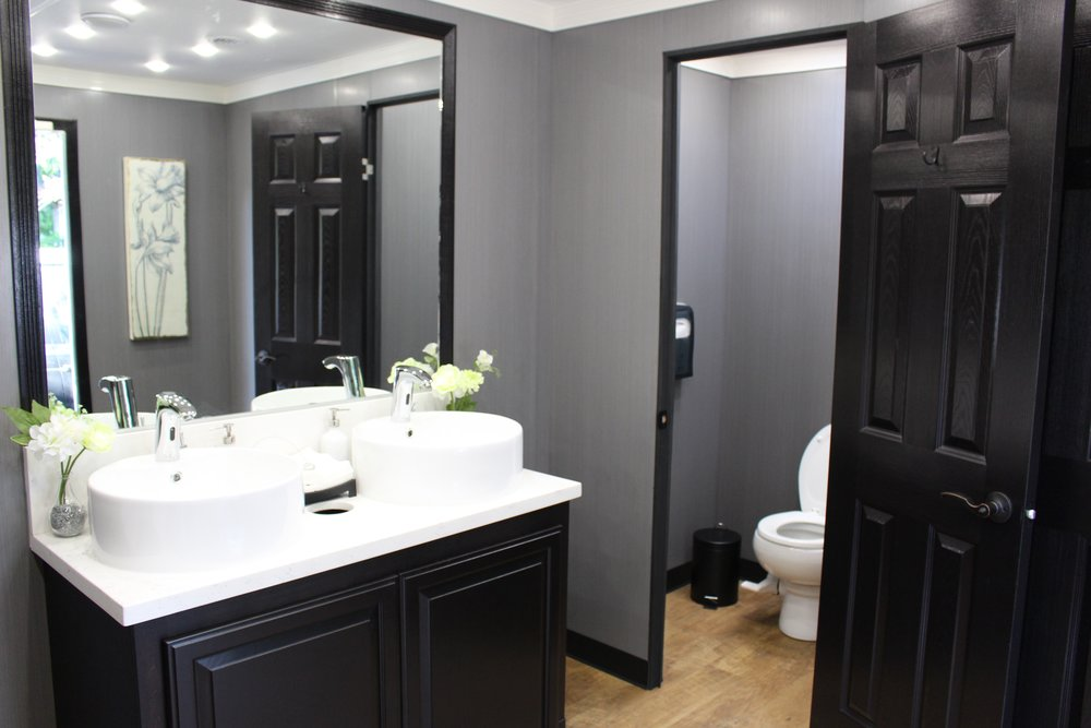 Eight Station Luxury Portable RestroomTrailer -