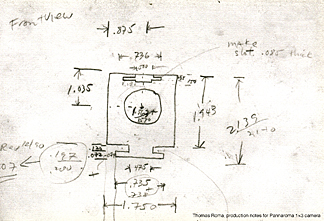 Thomas Roma, production notes for Pannaroma 1x3 camera
