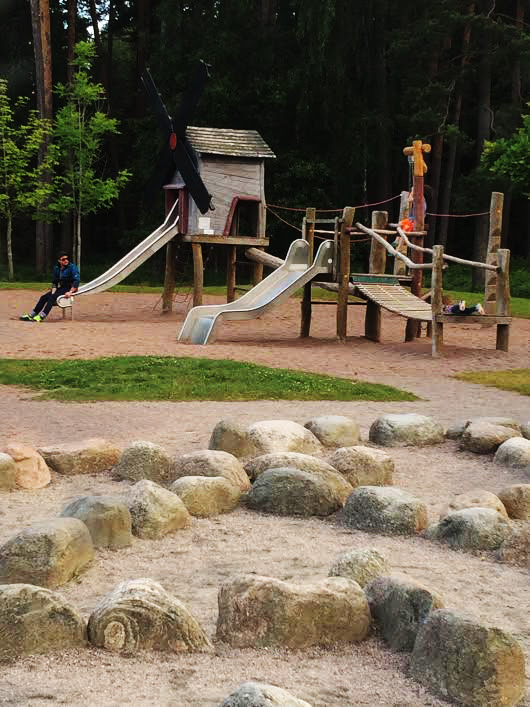 Karlstad has some of the best parks in the world. This one, Mariebergskogen especially. Playgrounds, petting zoo, forest, trails, beach, ice skating, ice cream, it truly has it all.