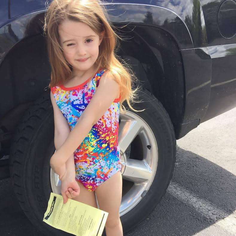 Gymnastics Graduation! She got 'promoted' to the next level which she will start next week!