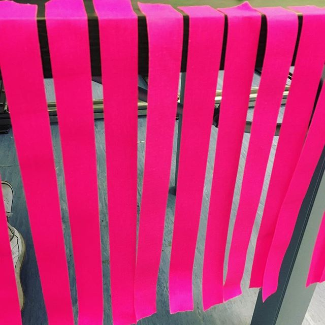 Oh #flouro #pink strips of wonder... What #filmcrafting secrets do you hold??? Get on over to www.skiptheedit.com to read up on crafting part II in this month's technical series! #filmsetsecrets #cameradepartment