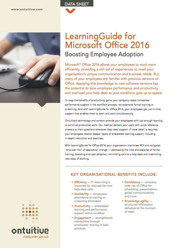Office 2016, 2013, 365 & Windows