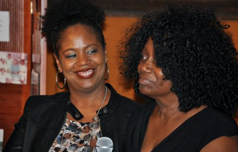 Janice Nixon (R), with her daughter Kimberly