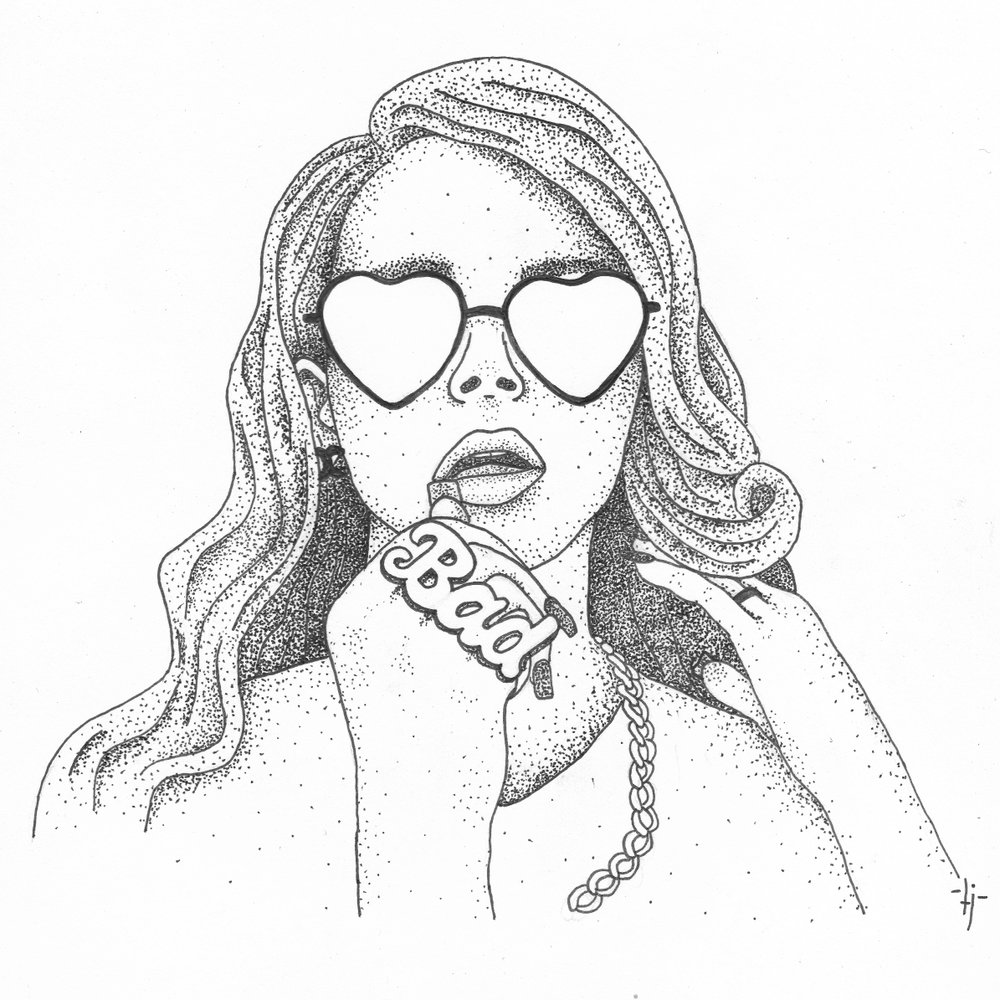 Drawings taylor jacobs for Lana del rey coloring pages
