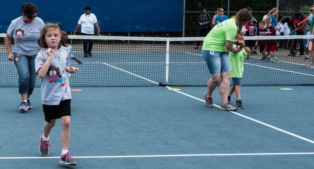 Special Olympics Race on Tennis Court