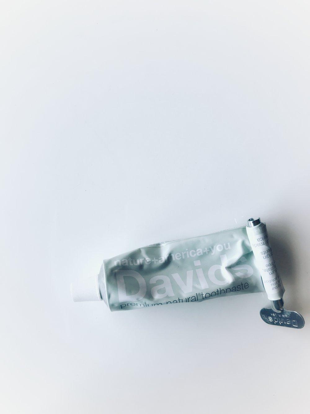 David's flouride-free toothpaste