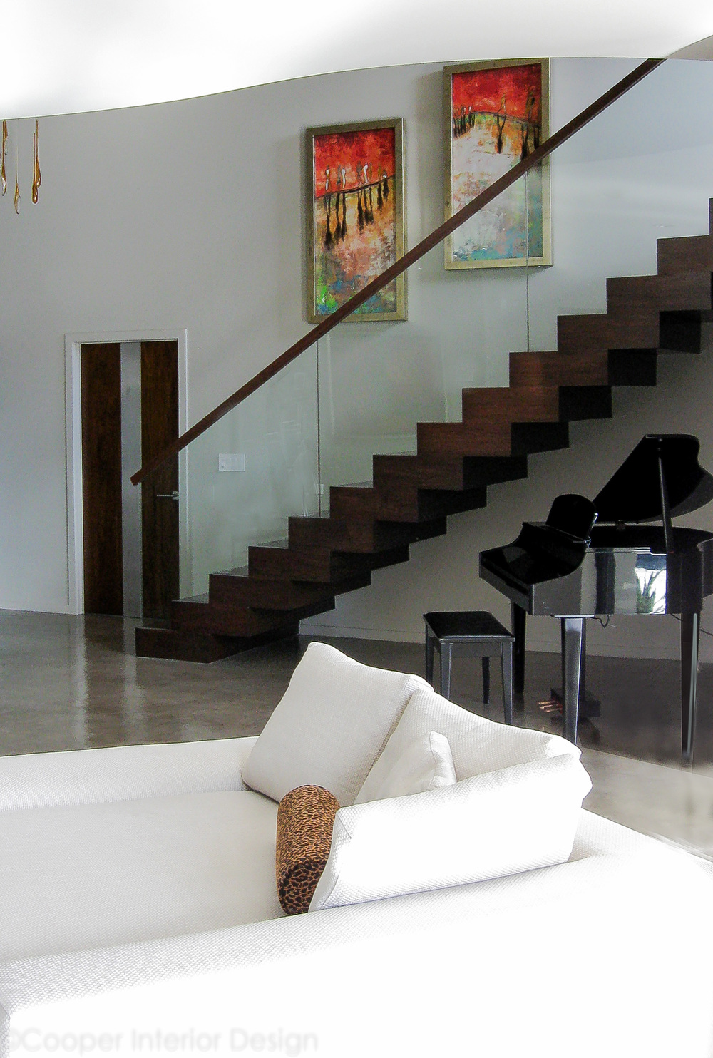 View of Entry with Modern Stairs, Tampa, FL