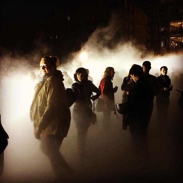 Late at Tate Modern.. fog sculpture by Fujiko Nakaya #art #tatemoderngallery #artist #cityandcolour #afterhours