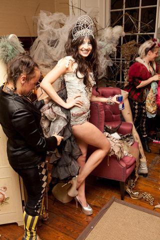 Daisy Lowe in Tiara & Showgirl @ Prangsta Boudoir.jpg